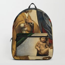 The Sistine Madonna Oil Painting by Raphael Backpack