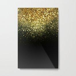 Sparkling Gold Glitter Glam #1 #shiny #decor #art #society6 Metal Print