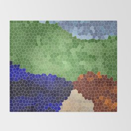 Gaudi´s garden Throw Blanket
