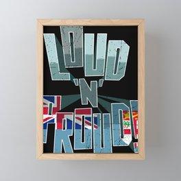 Fiji Pride Loud N Proud Framed Mini Art Print
