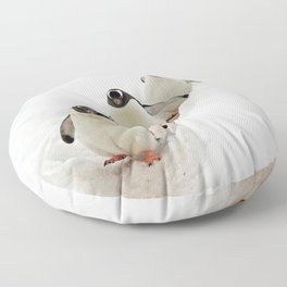 Gentoo Penguins on a Fishing Trip Floor Pillow