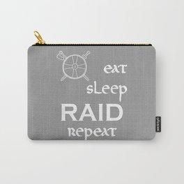 eat-sleep-RAID-repeat white, Vikings Carry-All Pouch