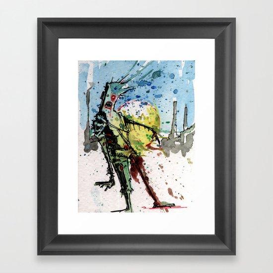desert zombie Framed Art Print