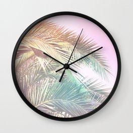 Wild palm leaves Nostalgia Wall Clock