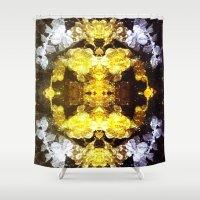 renaissance Shower Curtains featuring GOLD RENAISSANCE by Chrisb Marquez