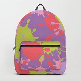 Paint Splatter-Purple+Pink+Green Backpack