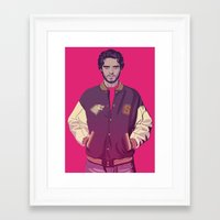 90s Framed Art Prints featuring 80/90s ERA - R.Srk by Mike Wrobel