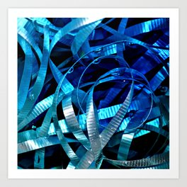 ribbon flow Art Print