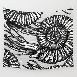 AMMONITE COLLECTION B&W Wall Tapestry