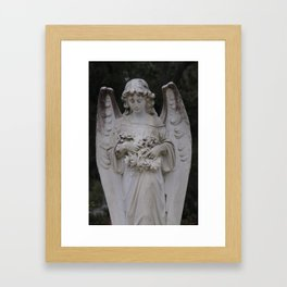 Angel Statue Framed Art Print