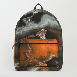 Orange Lightning Backpack