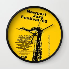 Vintage 1965 Newport, R.I Jazz Festival Advertisement Poster Wall Clock