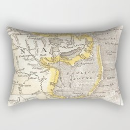 Vintage Map of The Outer Banks (1818) Rectangular Pillow
