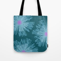 Big Blue Flowers Tote Bag