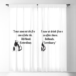 killing eve quote art work Blackout Curtain