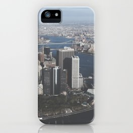 NYC Downtown Aerial iPhone Case