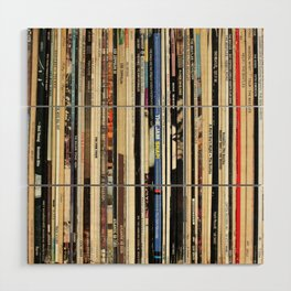 Classic Rock Vinyl Records Wood Wall Art