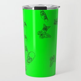 Green Skulls Travel Mug