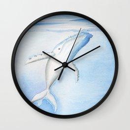 Nada - White Humpback Whale Wall Clock