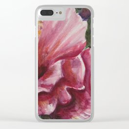 Blooming Excitement Clear iPhone Case
