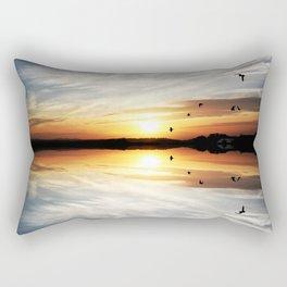 Reflecting Sunset - 3 Rectangular Pillow