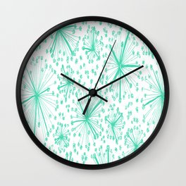 spring floral green flower Wall Clock