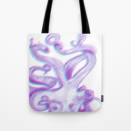 Split Color Octopus Tote Bag