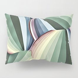 Art Deco Muted Circles Of Color Pillow Sham