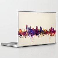maryland Laptop & iPad Skins featuring Baltimore Maryland Skyline by artPause