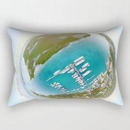 Tiny Planet Turks and Caicos Rectangular Pillow