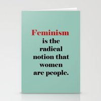 feminism Stationery Cards featuring Feminism  by Illustrated by Jenny