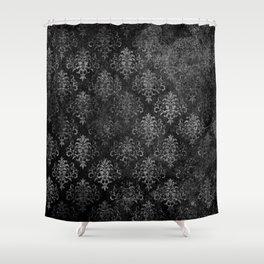 Elegant Grunge Black Damask Shower Curtain