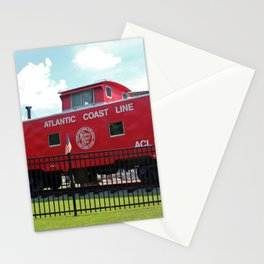 Red Caboose On Display Stationery Cards
