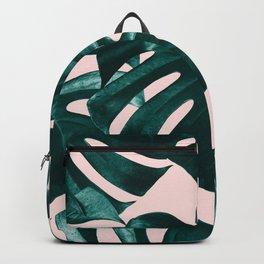 Tropical Monstera Leaves Dream #1 #tropical #decor #art #society6 Backpack