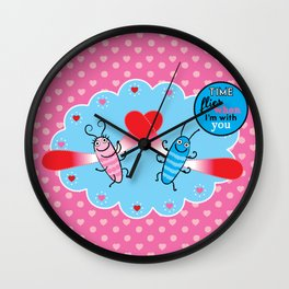 Lovebugs - Time flies when I'm with you Wall Clock