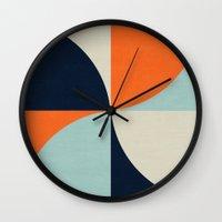 mod Wall Clocks featuring mod petals by her art