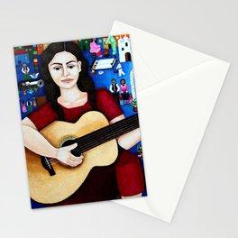 Violeta Parra and her guitar Stationery Cards