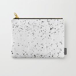 Black and White Spilled Ink Splatter Splashes Speckles Carry-All Pouch