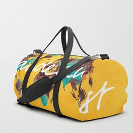 world map 123 wanderlust #wanderlust #map Duffle Bag