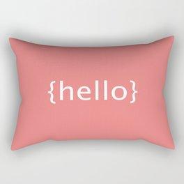 Hello {salmon} Rectangular Pillow