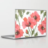 poppies Laptop & iPad Skins featuring POPPIES by Oana Befort
