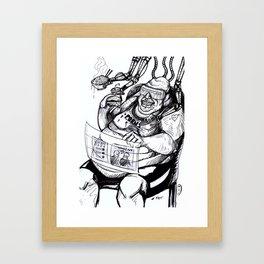 Inktober: Fat Framed Art Print
