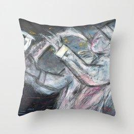 Jazz Player Throw Pillow