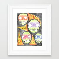 tmnt Framed Art Prints featuring TMNT by Elvis Vazquez
