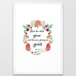 Childrens Nursery Quote Framed Art Print