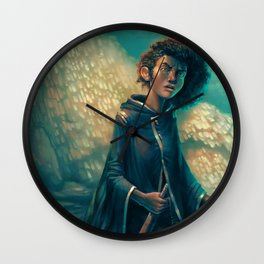 The Girl in Black Wall Clock