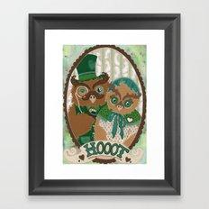 Mr. and Mrs. Owl Framed Art Print