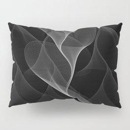Black and White Flux #minimalist #homedecor #generativeart Pillow Sham