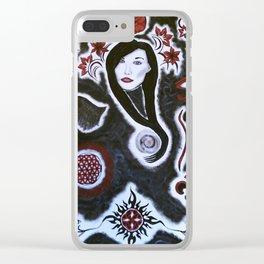 Divine Feminine Clear iPhone Case