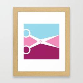 Pop Art Scissors Framed Art Print